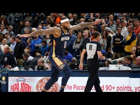 Cousins Clutch Free Throw Tip In! Anthony Davis 37 Pts! Pelicans vs Pacers 2017-18 Season