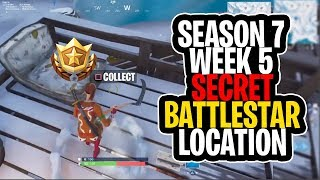 *NEW* SEASON 7 WEEK 5 SECRET BATTLE STAR LOCATION! - FORTNITE BATTLE ROYALE (Snowfall Challenges)