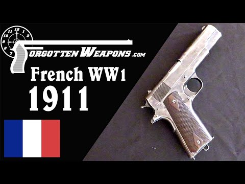 WW1 French Contract Colt 1911 for Tank Crewmen