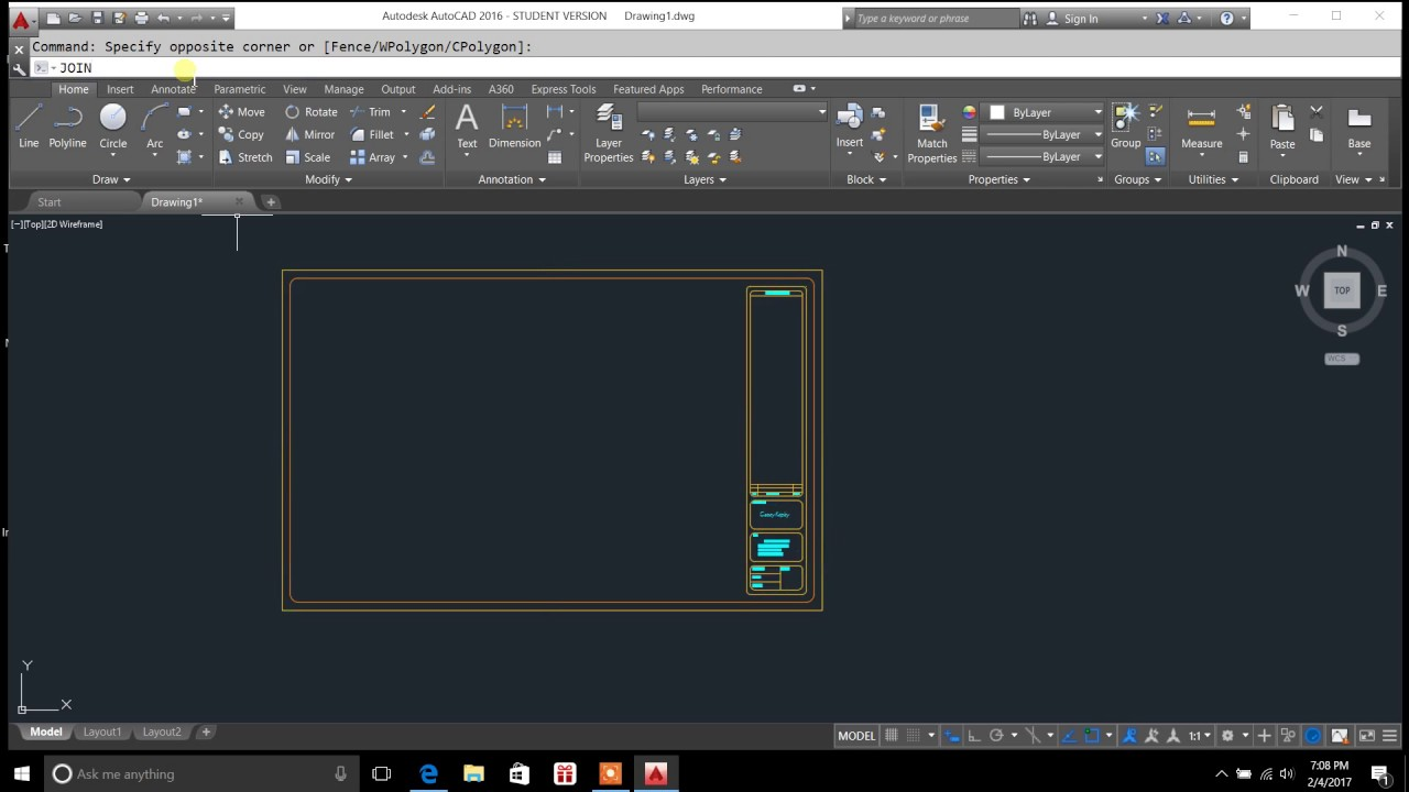 how to move objects autocad