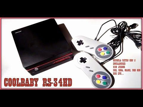 CONSOLA RETRO [coolbaby RS 34 HD] MAME, SNES, NES, SEGA, NEO GEO