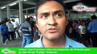 Asesor Juan Fransisco Ixba con programas de Vivienda