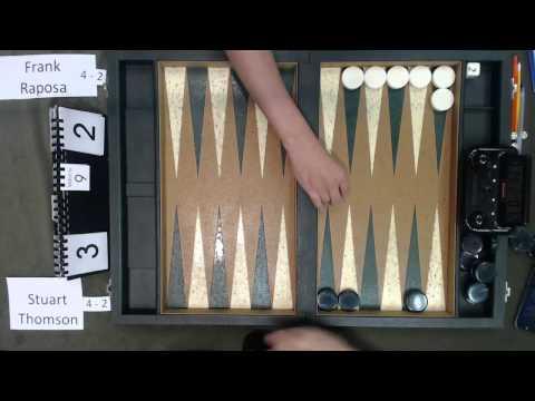 Carolina Backgammon R7 Stuart Thomson v Frank Raposa