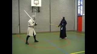Z vs. Rory - shinai & nylon longsword