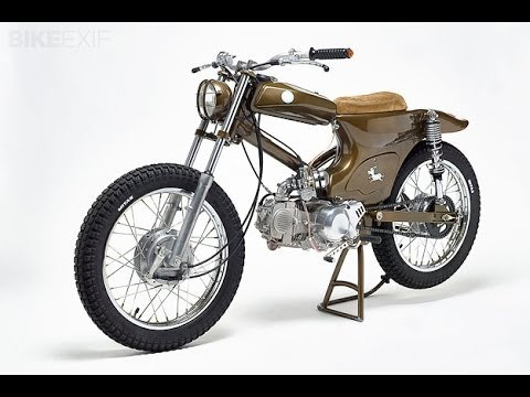 custom honda super cub dirty donkey by smc   youtube