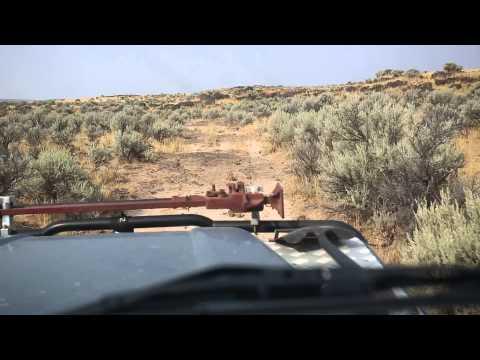 Oregon's high desert in a land rover defender
