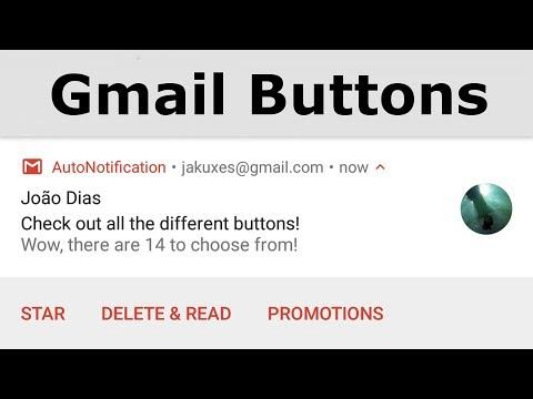 AutoNotification - Gmail Buttons