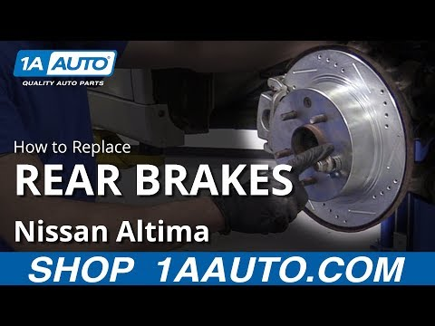How to Replace Rear Brakes 02-17 Nissan Altima