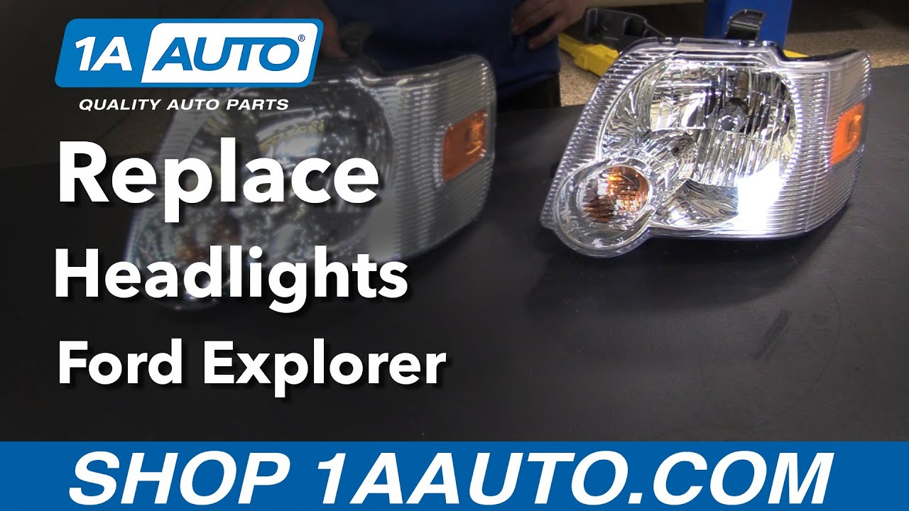 How to replace install headlight housing 2006 ford explorer buy quality auto parts from 1aauto com