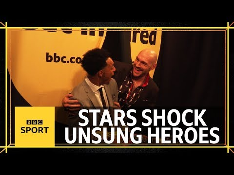 Fury, Kane & other stars surprise the Unsung Heroes - BBC Sport