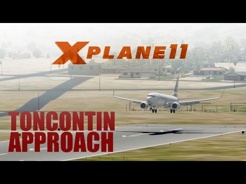X Plane 11 Beta2 - Default 737 Flight to Toncontin! (MHTG)