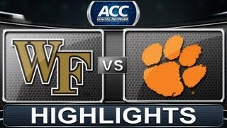2013 ACC Football Highlights | Wake Forest vs Clemson | ACCDigitalNetwork