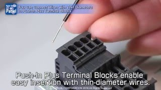 Push-In Plus Terminal - Thin wire compatible