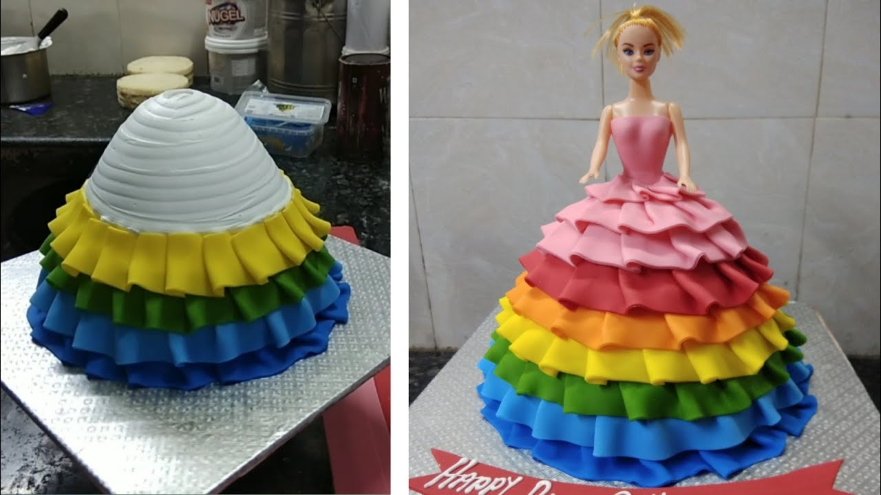 Fondant Barbie Doll Cake Design |Doll Cake Design |Barbie Birthday Cake Design |New Cake Wala
