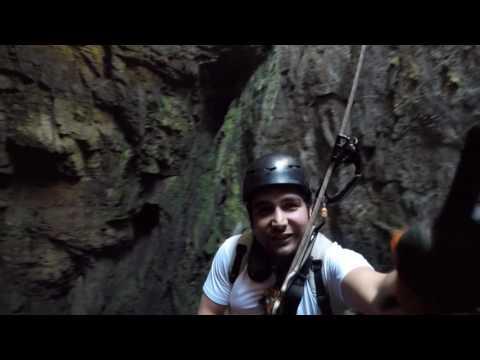 sotano de las golondrinas descenso  cave of swallows xilitla san luis potosi