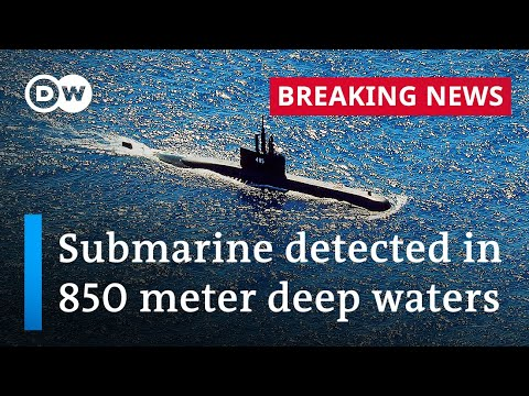 Indonesian navy finds debris from missing submarine | DW News
