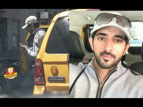 Sheikh Hamdan In Yellow Cab NYC Trip