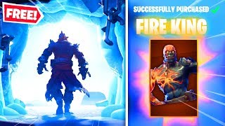"HOW TO UNLOCK ""FIRE KING"" IN FORTNITE! NEW ""SNOWFALL"" SKIN REVEALED! (Free Snowfall Skin)"