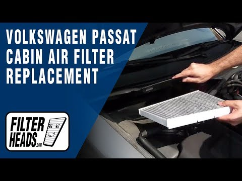 How to replace cabin air filter volkswagen passat youtube for Interieur filter