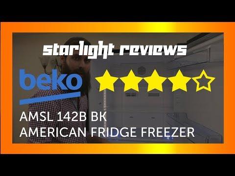 Beko ASML 142B American Fridge Freezer Product Review by starlight reviews
