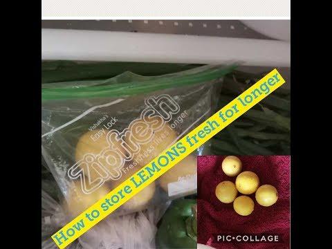 Tips to store LEMONS fresh || how to store LEMONS fresh-- by Home Kraft