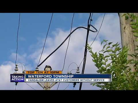 AT&T cables cut in Waterford Township