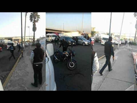 Delincuente queda grave tras robar taxi y provocar balacera en alcaldía GAM; captan video