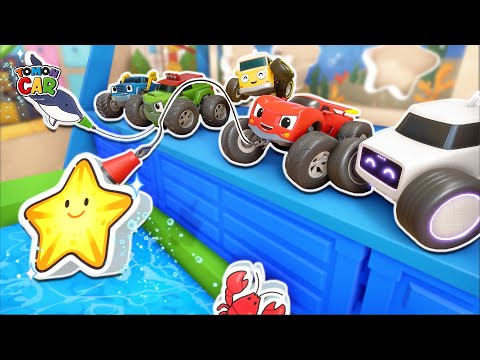 Let's Play The Fishing Game! | Puzzle Solving!  Nursery Rhyme Tomoncar World