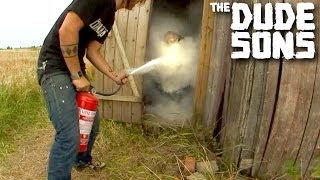 Outhouse Fire Extinguisher Prank!