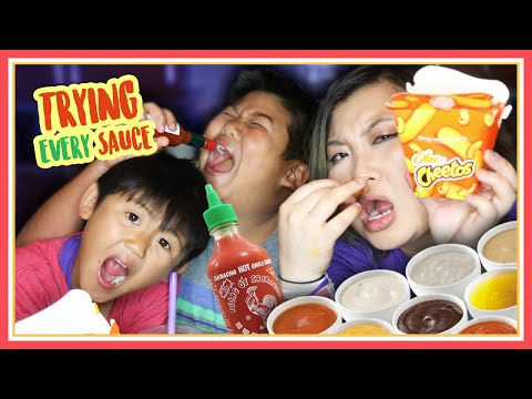 Tasting Burger Kings Mac n Cheetos w EVERY Sauce ft Crew & Cody - MadeWithSoyy