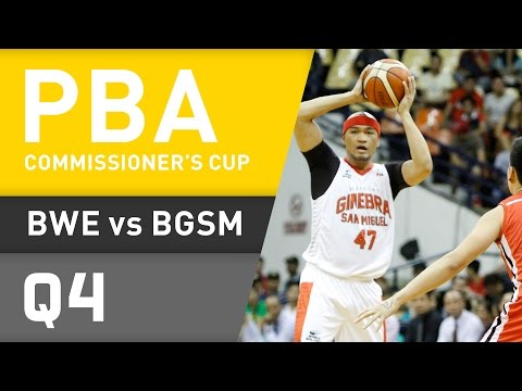 BLACKWATER VS. GINEBRA - Q4 | Commissioner