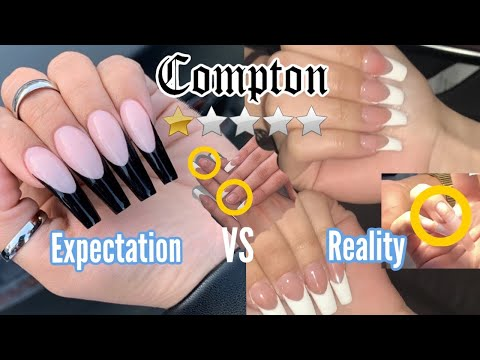 I WENT TO THE WORST REVIEWED NAIL SALON IN MY CITY (compton) *shocking Asf*