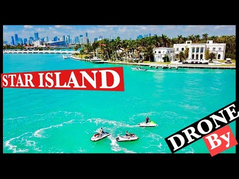 40 Millions $ Luxury Mansions In Star Island Miami By Drone