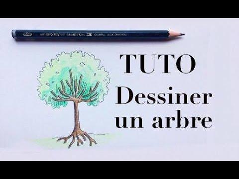 Tuto dessiner un arbre facilement youtube - Arbre dessiner ...