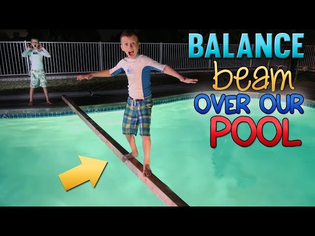 Baby Twins Routine Balance Beam Challenge At Night Videos For Kids