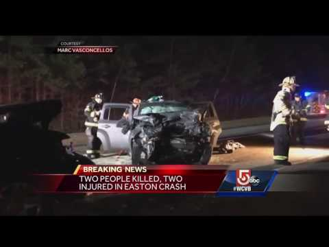 2 dead, 2 injured in head-on crash in Easton