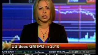 US Sees GM IPO In 2010 - Bloomberg