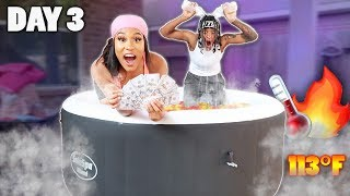 LAST TO LEAVE HOT TUB WINS $10,000 Challenge!!