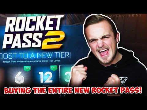 BUYING THE ENTIRE NEW ROCKET PASS 2! | BIG Rocket League Update! thumbnail