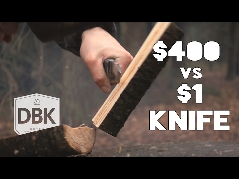1$,- Knife VS $400,- Knife // A Battle To The Death