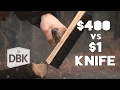 $1,- Knife Vs $400,- Knife    A Battle To The Death video