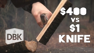 $1,- Knife VS $400,- Knife // A Battle To The Death