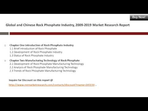 Rock Phosphate Industry China and Worldwide Market Research Report 2019