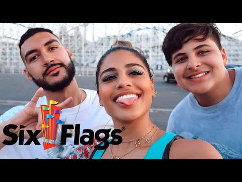 TAKING MY BROTHER TO SIX FLAGS (HE PANICKED) | Gabriela Bandy