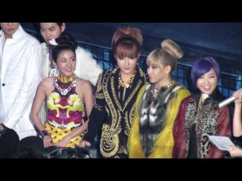 2012.12.29 2NE1 at the sitting area at SBS Gayo Daejun 1