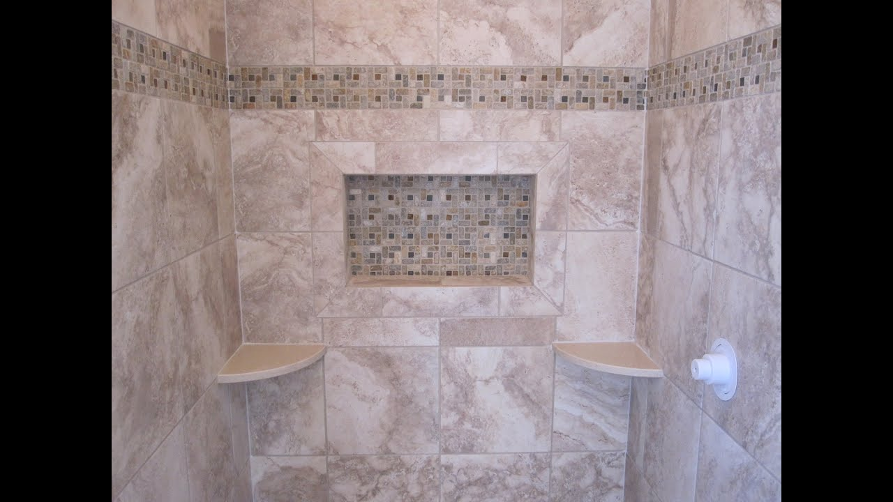 Ceramic tile shower stall youtube dailygadgetfo Choice Image
