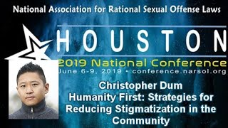 Christopher Dum: Humanity First: Strategies for Reducing Stigmatization in the Community