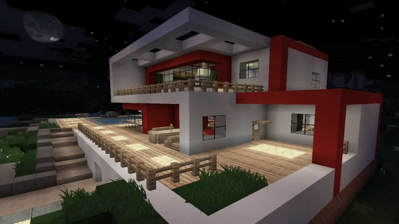 Minecraft modern house 1 modernes haus hd youtube for Modern haus minecraft bauen