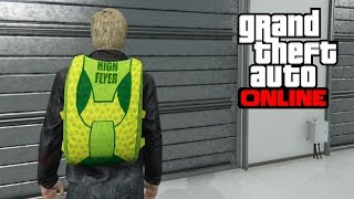 """GTA 5 Online - How to Get the High Flyer """"Weed"""" Parachute"""