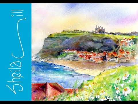 My Coastal UK Village Pictures in Watercolour by Sheila Gill